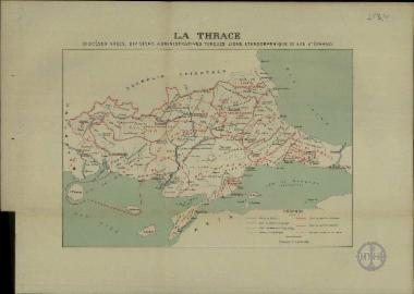 La Thrace dioceses Grecs, divisions administratives Turques, ligne ethonographique de San Stephano.