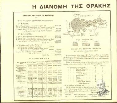 Η διανομή της Θράκης και της Μακεδονίας.