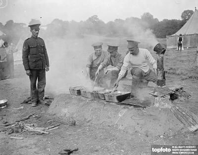 London Volunteers in camp
