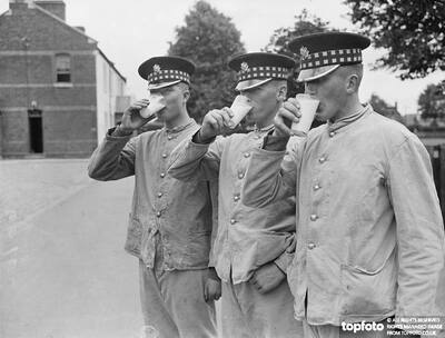 Three Scots Guards downing healthy