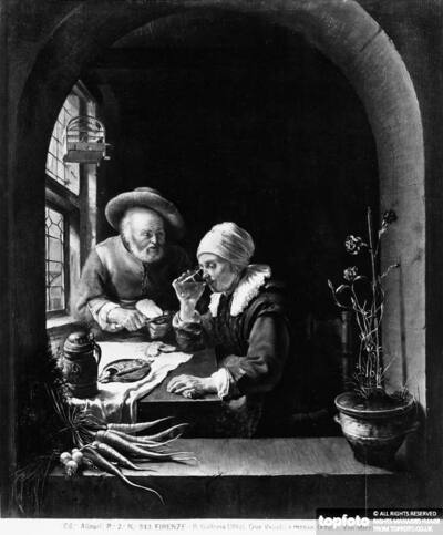 An Old Couple at Table,