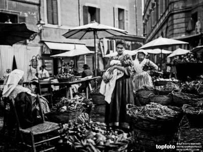 The herb market, Campo de'Fiori,