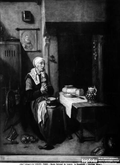 Prayer: work by Nicolaes Maes,