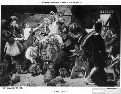 The drinkers, by Antonio Fabrès,
