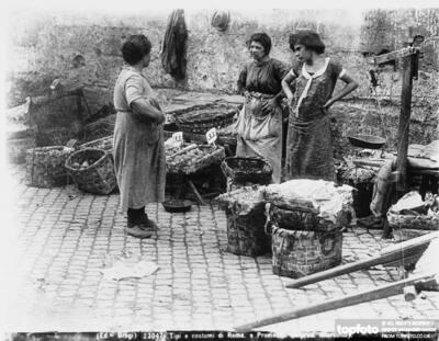 Three women next to some
