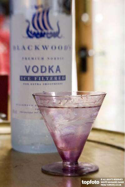 Vodka in cut glass