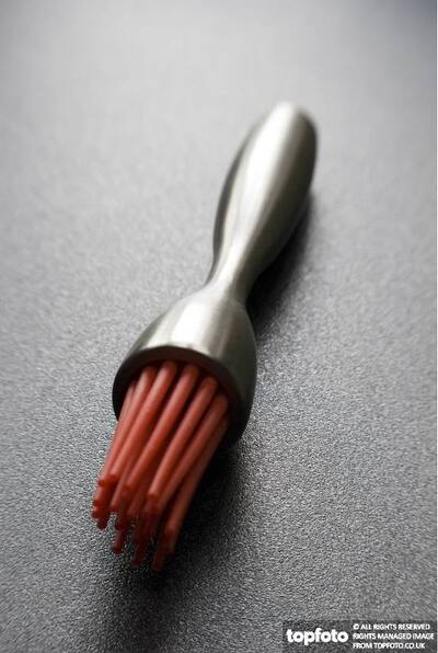 Red pastry brush