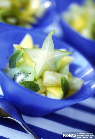 Starfruit fruit salad