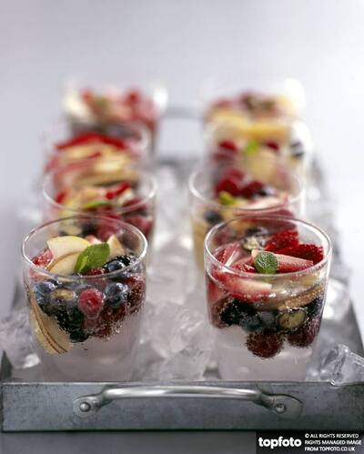 Fruit and spring water