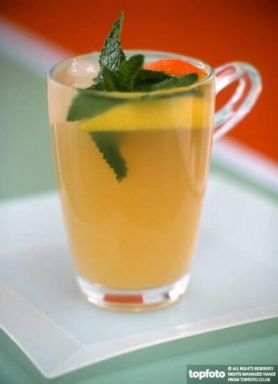 minted lemon drink