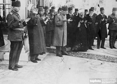 Sultan of Turkey at Prayer