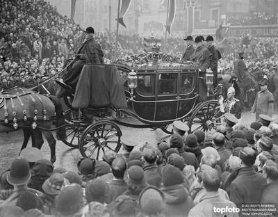 The funeral of King George V
