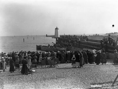 Crowds of spectators watching the