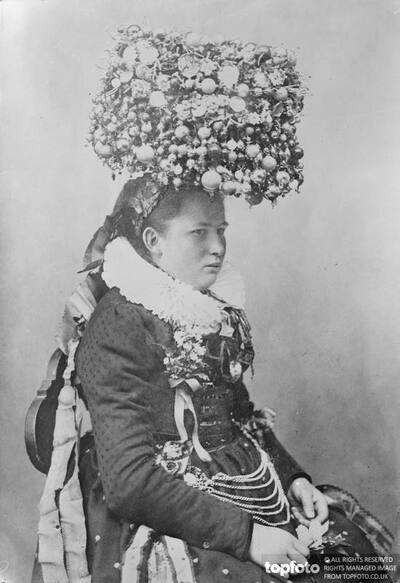 Remarkable head dress worn by