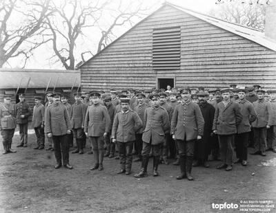 German prisoners on parade at
