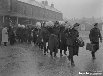 Auxiliaries arriving at Beggars Bush