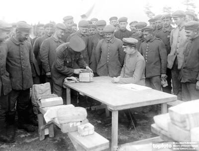 German prisoners of war receive