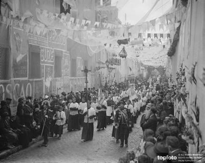 Striking procession of