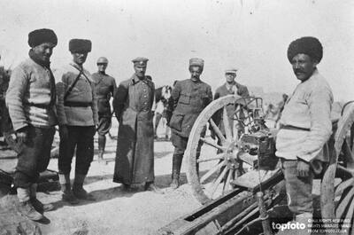 Armenian artillery on the Ervian