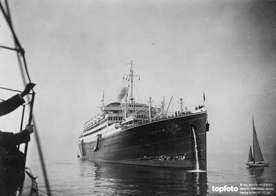 The passenger liner , '