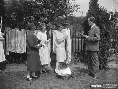 Canvassing on washing day ._x000D_ Mr