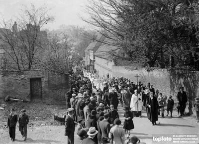 Church procession through Orpington ,