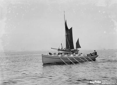 Sailing barge race with a