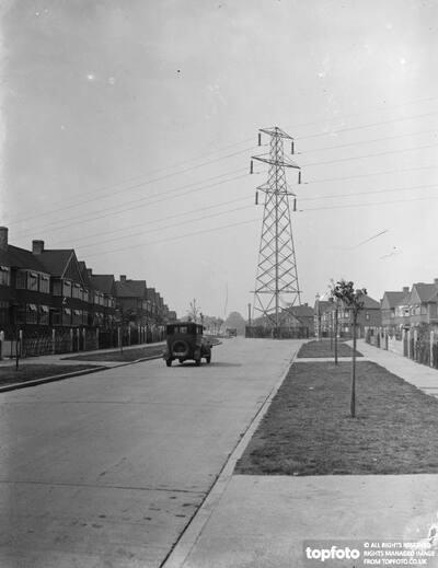 Pylon in the road ._x000D_ 1937