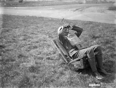 An anti aircraft spotter at