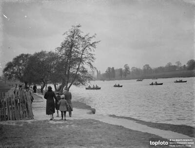 Rowing boats on the lake