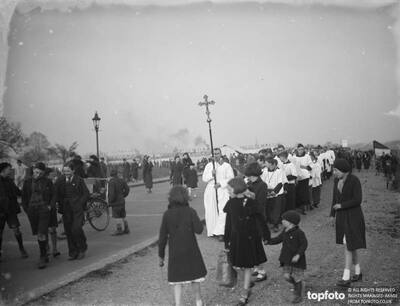 Choir boys in procession during