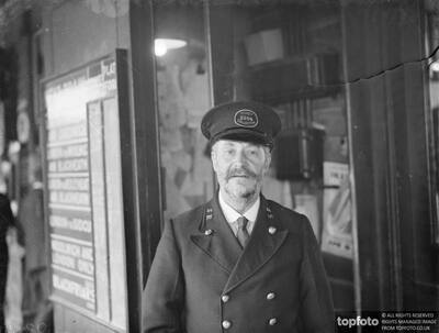 Fred Needham a ticket collector