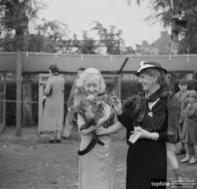 Miss Australs with monkeys ._x000D_ 1936