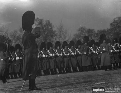 Prince of Wales inspects his