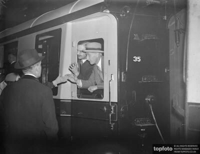 Earl of Lytton leaves Paddington