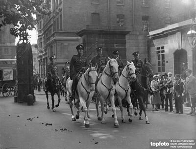 Mounted special constables parade for