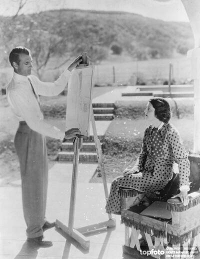 Gary Cooper tests his skill