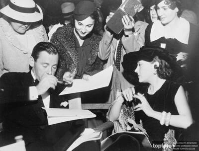 Gloria Swanson and Herbert Marshall