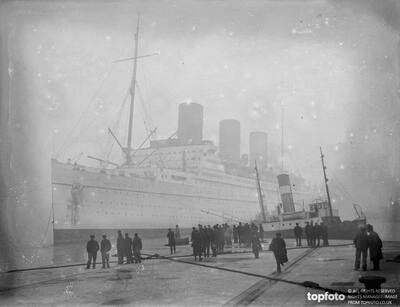 The Canadian Pacific liner ,