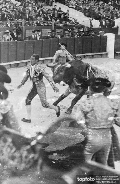 Spanish bull fighters , strike