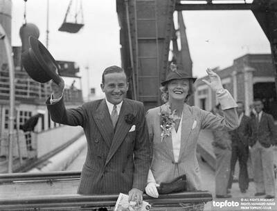 Evelyn Laye and her husband