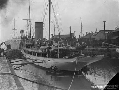 Lord Fairhaven's yacht in dry