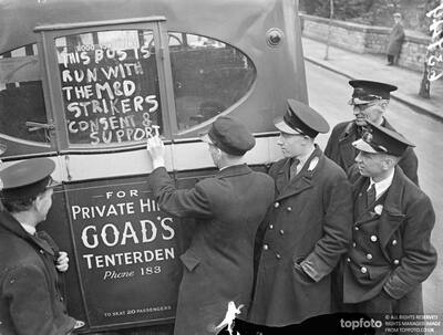 'Licensed' by strikers, private buses