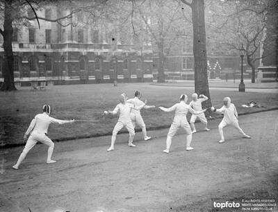 Fencing competition in Lincoln's Inn