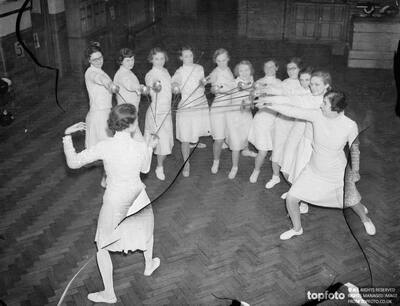 East End girl fencers seen