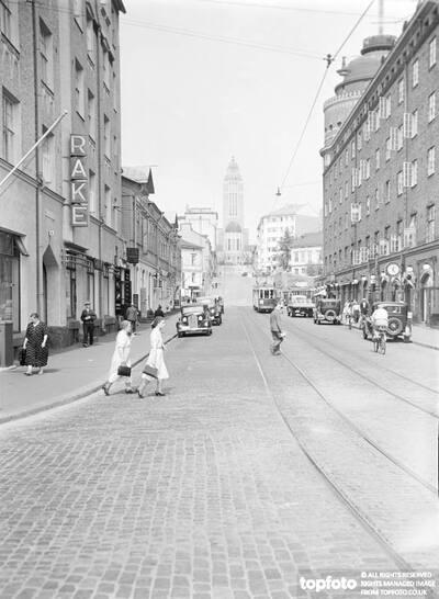 Helsinki and personalities._x000D_ Viwe of Siltasaarenkatu,