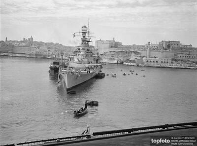 World's largest warship at Malta._x000D_ HMS