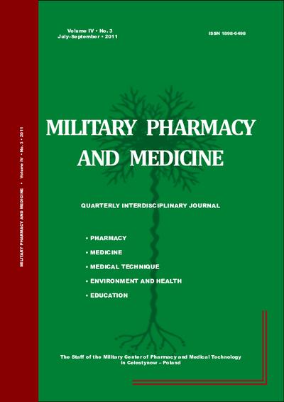 Military Pharmacy and Medicine. 2011. Volume IV. No. 3