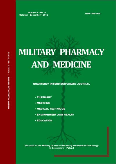 Military Pharmacy and Medicine. 2012. Volume V. No. 4