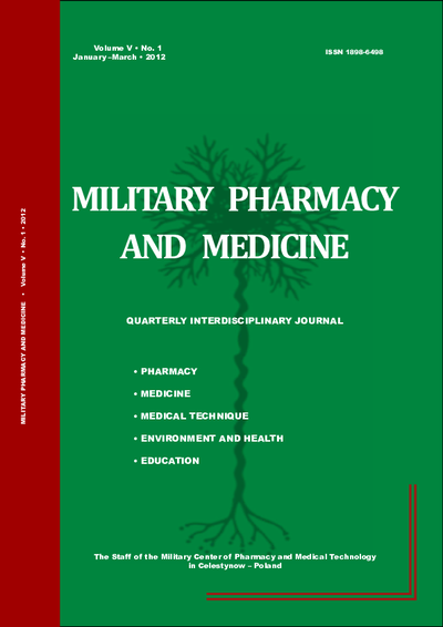 Military Pharmacy and Medicine. 2012. Volume V. No. 1